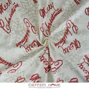 MERRY CHRISTMAS Tessuto al...